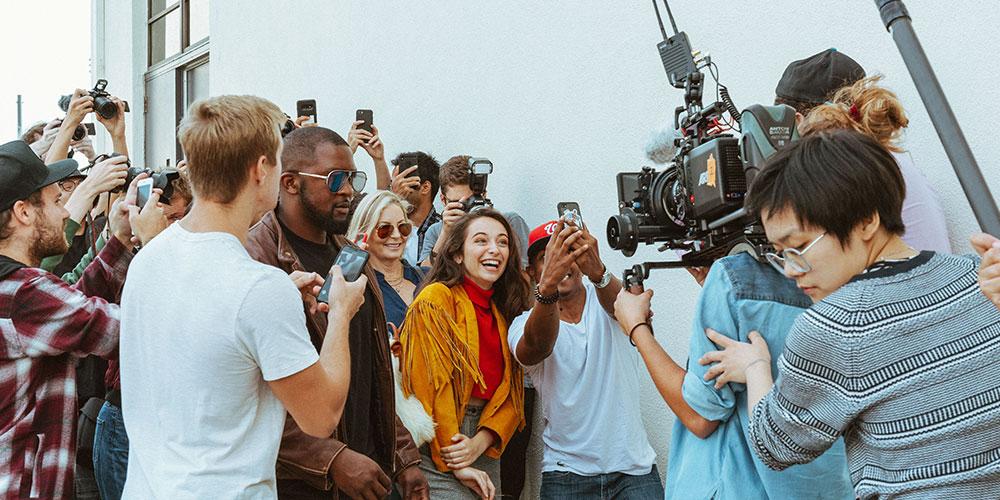 On set with SFTV grad students