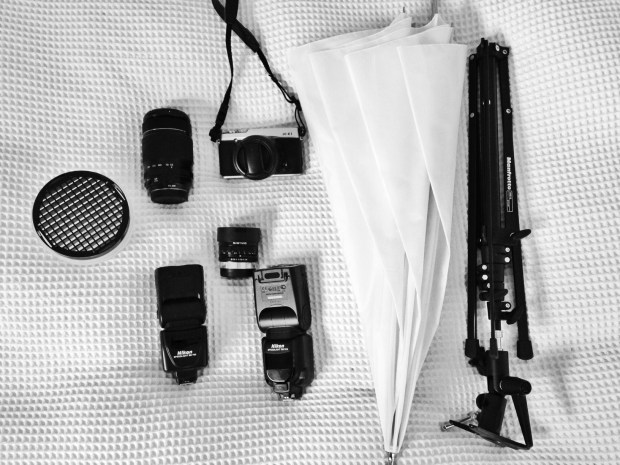 A subset of my wedding equipment