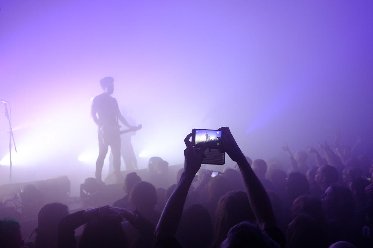 The Fuji X70 at a concert