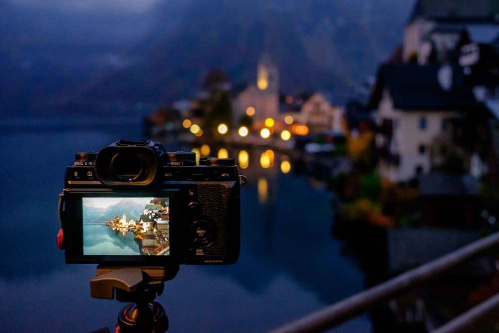 The marvelous Fuji X-2 in Hallstatt (taken with the equally awesome Fuji X70)