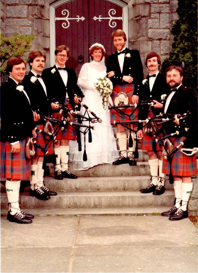 Jim Stewart Alison Palmer wedding 1984