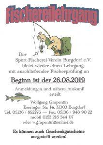 Flyer Fischereilehrgang 2019