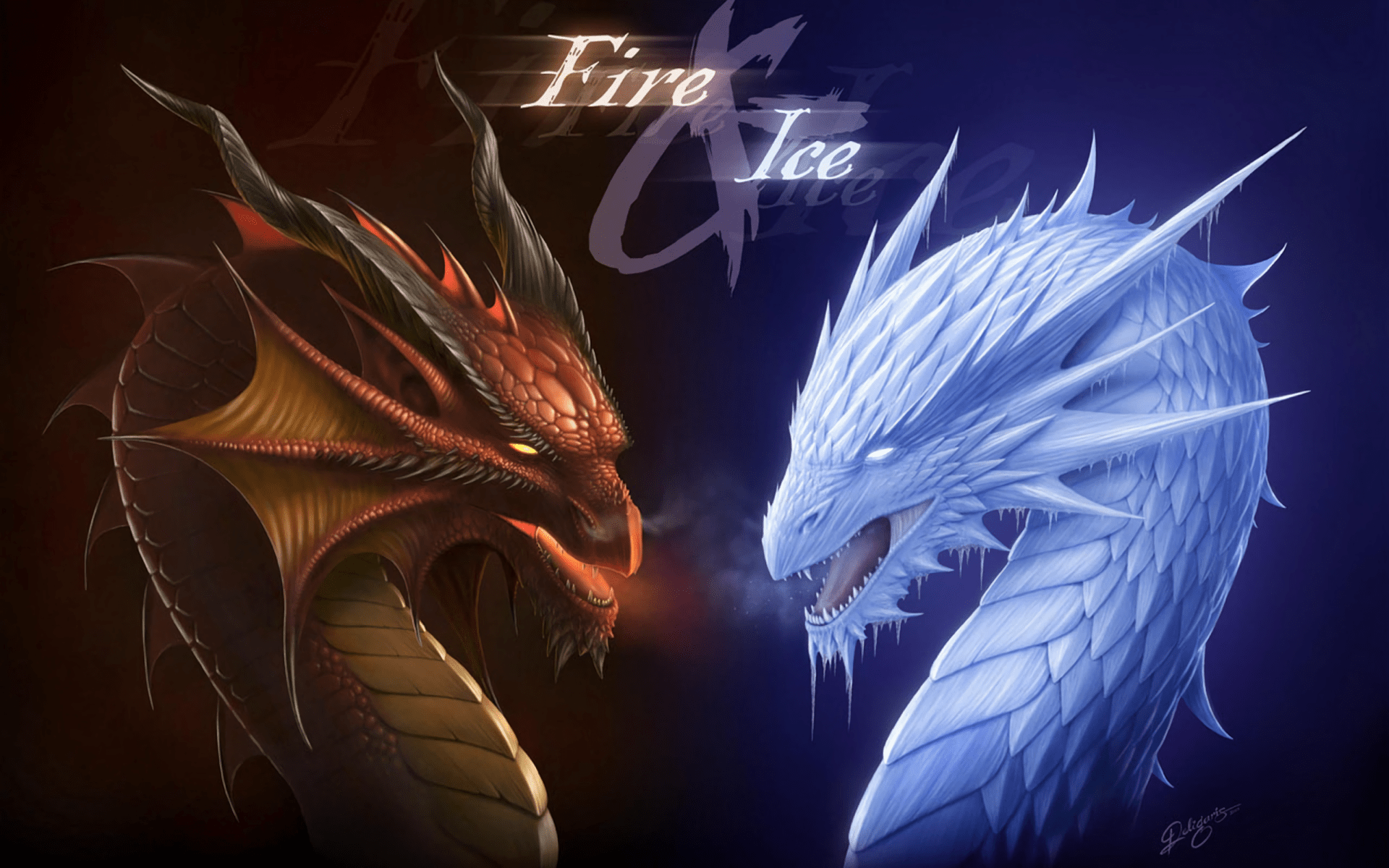 Cool Fire Dragon Backgrounds