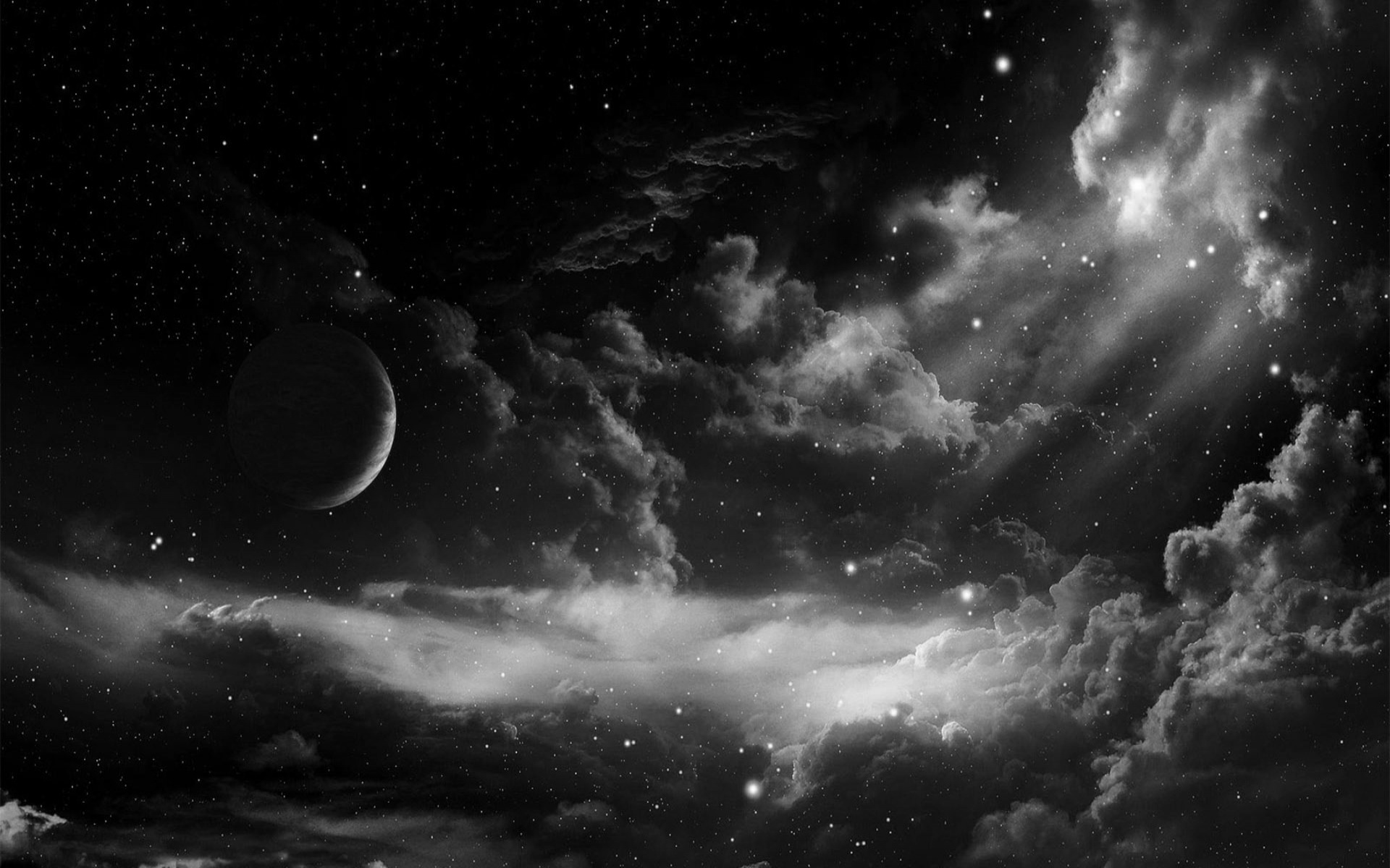 black sky wallpaper sf