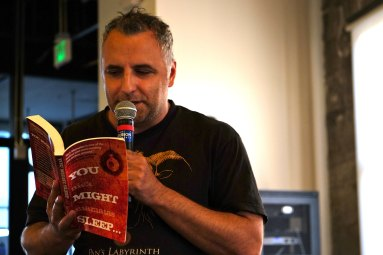 Nick Mamatas reading at Write From the Gut! #9 Photo by: Zoe Christopher