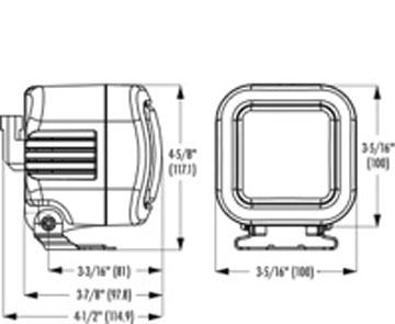 Piaa 4152: Driving Light Kit Square Intense White Driving 60w