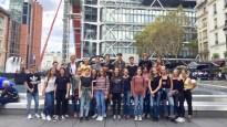 12.10.2018: die Französischkurse vor dem Centre Georges Pompidou
