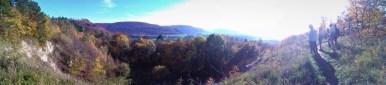 17.10.2017: Exkursion zum Braunenberg, Blick auf den Albtrauf