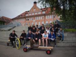 12.07.2018: Das NWT-Team bei der Präsentation - Fahrzeuge und Geologie