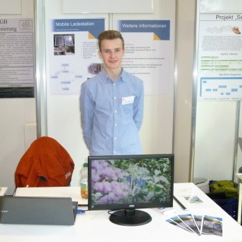 09.02.2019, Jugend forscht: Niklas Kaufmann hat eine mobile Ladestation entwickelt