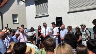 03.07.2019: Feier zur Verlegung der Stolpersteine mit Familienangehörigen der Ermordeten