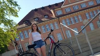 """04.07.2019: Schülersprecherin Mia-Zoe und das SMV-Team haben sich zum Stadtradeln angemeldet. """"Mitmachen!"""""""