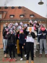 01.07.2019: Die Jogginghosentag-Gewinner der Klasse 8a (3. Platz)