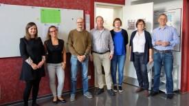 11.09.2019: Ein herzliches Willkommen den neuen Lehrkräften am SG: Stephanie Gelse (BK), Maddalena Facchini (It, F), Thomas Groll (D, G), Johannes Eck (EvR), Carmen Gräter (Eth) mit Christiane Dittmann (SL) und Martin Schaub (stSL)