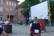 28.07.2020: Die Abifeier vor dem Schubart-Gymnasium