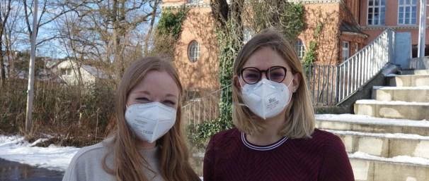 25.01.2021 Vorbildlich! Unsere neuen Referendarinnen mit FFP2-Maske