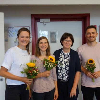 Abschied von den Referendarinnen Frau Eiberger und Frau Rieger, Herr Miese bleibt dem SG erhalten