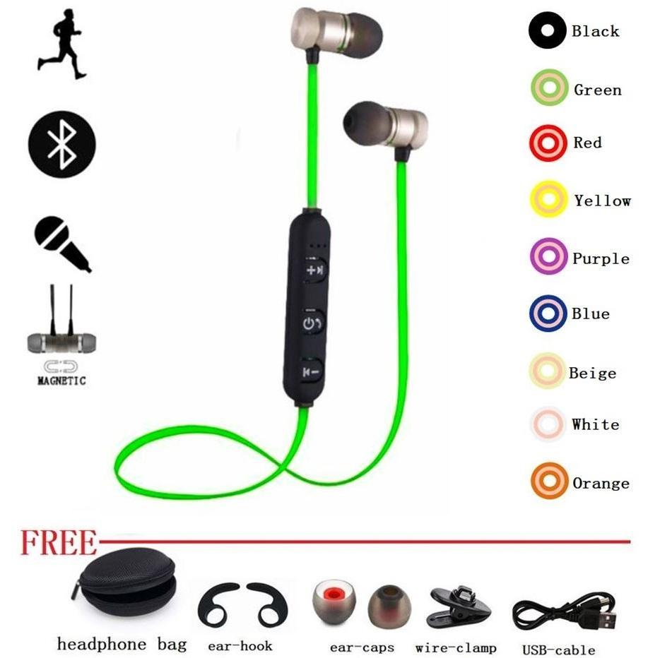 hight resolution of sports earphone bluetooth headphone metal proof magnetic earpiece stereo headset