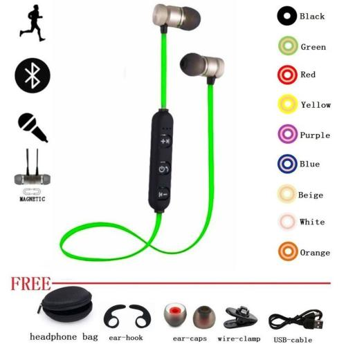 small resolution of sports earphone bluetooth headphone metal proof magnetic earpiece stereo headset