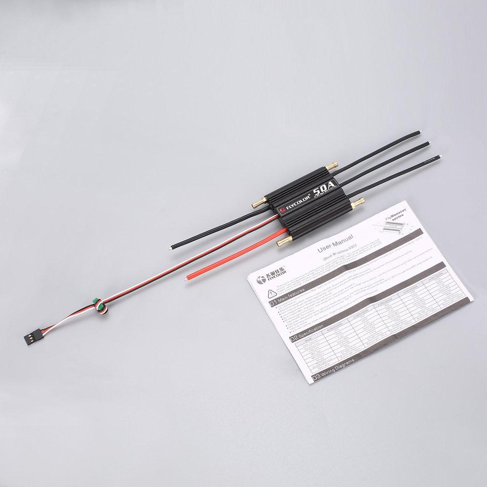 medium resolution of flycolor 2 6s 50a waterproofbrushless esc 5 5v 5a bec for rc boat ship singapore