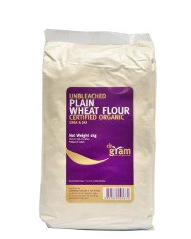Dr Gram Organic Unbleached Plain Wheat Flour 1kg (3 ...