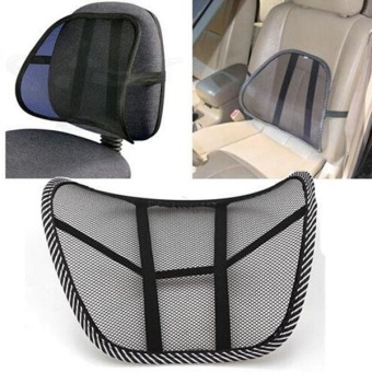 back support cushion for office chair singapore standing workstation check price of cool vent mesh brace lumbar home sofa car seat intl