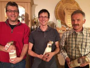 """Peter, Lois und Wolfgang als Gewinner beim """"Brotdoag-Schießen"""""""