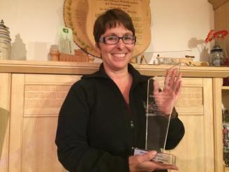 Gewinnerin des Wanderpokal. Glückwunsch Steffi