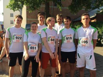 Das Team der SG Matzing beim Stadtlauf Traunreut