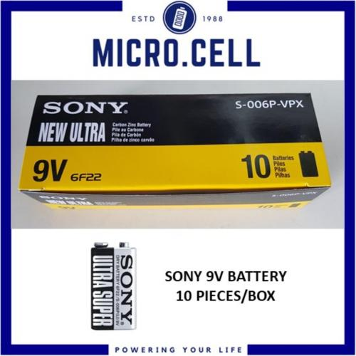 small resolution of sony 9v battery carbon zinc new ultra dry batteries box of 10 pieces