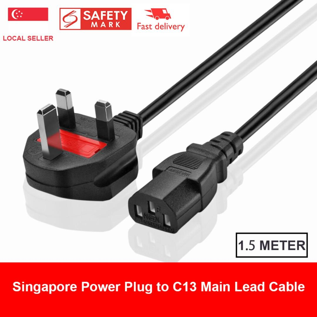 hight resolution of singapore power plug to c13 lead power cable uk singapore malaysia power extension cable cord british