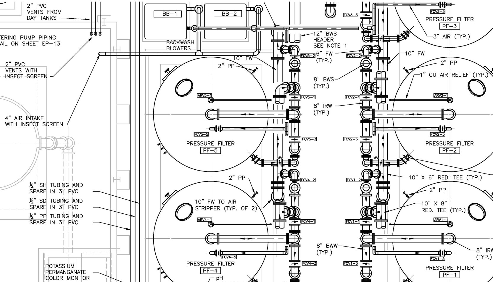 hight resolution of piping layout plan