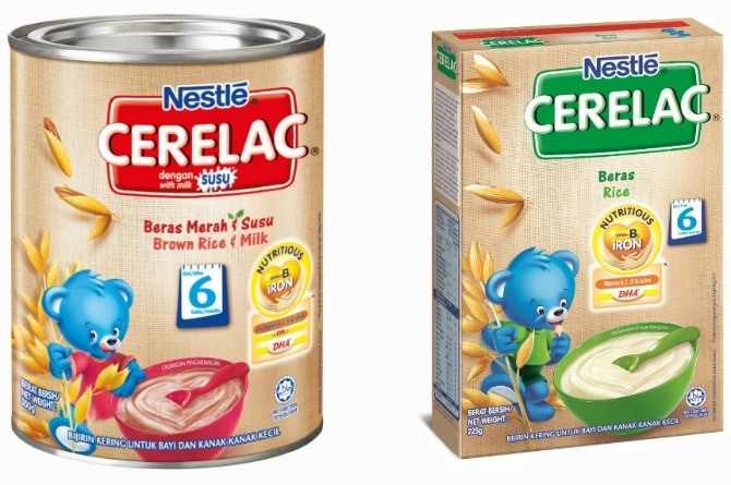 iron, baby food CERELAC® Infant Cereal