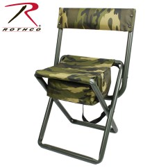 Predator Hunting Chair White Mesh Office Canada Rothco Deluxe Folding Stool With Pouch