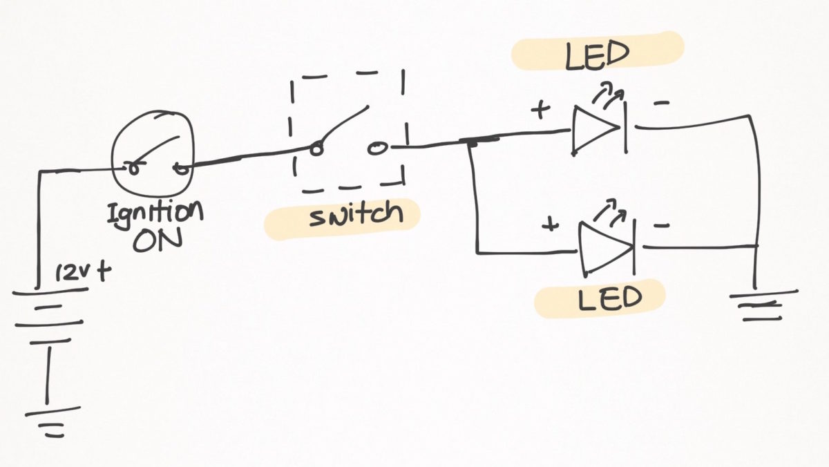 hight resolution of led fog lights install on my pulsar 200ns ramblings of a singapore motorcycle fog lights wiring diagram