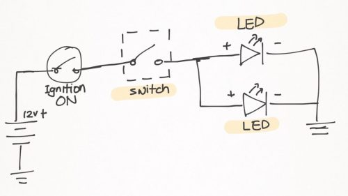 small resolution of led fog lights install on my pulsar 200ns ramblings of a singapore motorcycle fog lights wiring diagram