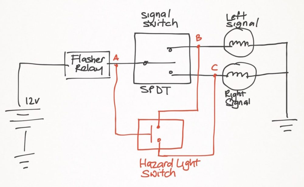 medium resolution of hazard wiring diagram wiring diagram writehazard relay wiring diagram for motorcycle 7 ghj capecoral 1988 s10