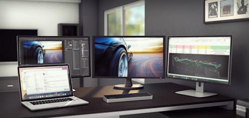 TripleVideo Docking Station for Laptops  USB 30