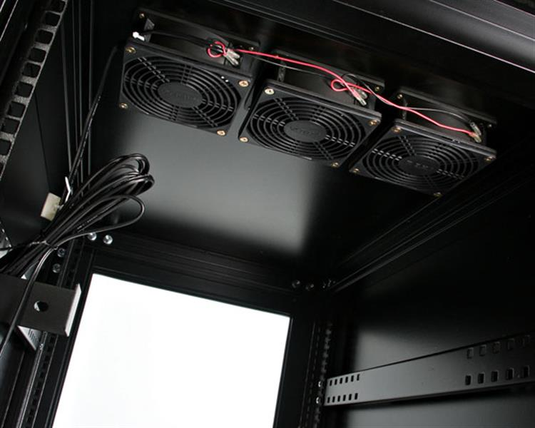 15U 19in Server Rack Cabinet with Fans  Enclosed Server