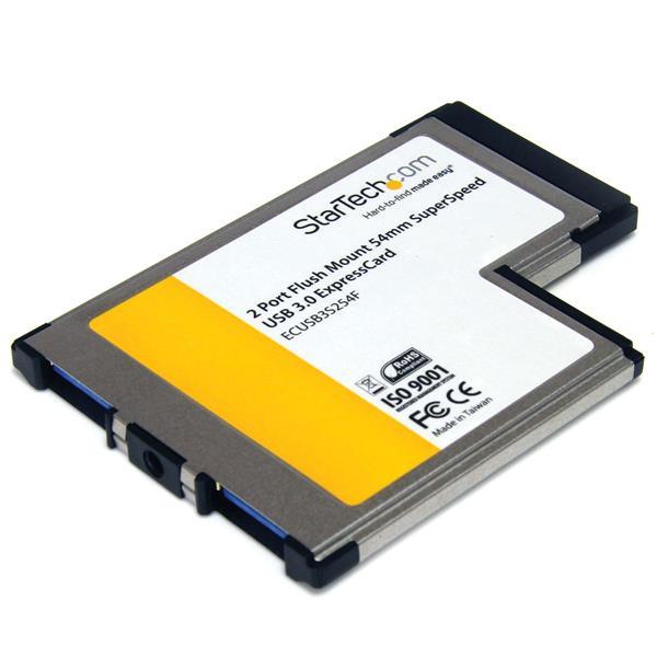 Adattatore ExpressCard USB 30  2 porte  A scomparsa