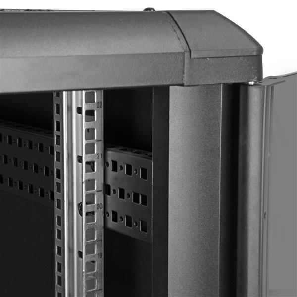 22U 36in Server Rack Cabinet with Glass Door  StarTechcom