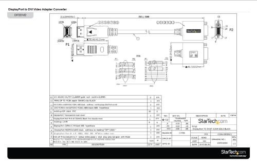 small resolution of displayport dvi adapter displayport male dvi single link femaledisplayport to dvi wiring diagram 1