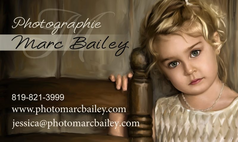 Carte d'affaire Photographe Marc Bailey
