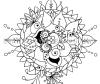 Oracle Mandala Coloring Page Just Be