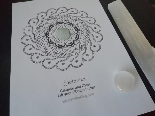 Crystal Mandala Coloring Page - Selenite