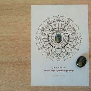 Crystal Mandala Coloring Page Labradorite