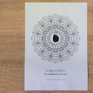 Crystal Mandala Coloring Page Indigo Gabbro