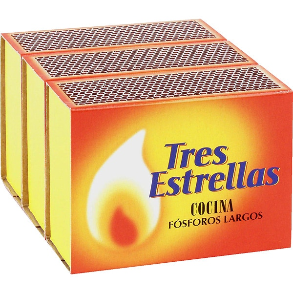 kitchen matches best cleaner for cabinets long 3 pack box 100 units tres estrellas