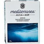 MEDITERRANEA agua de mar especial para cocinar y conservar el pescado y marisco envase 3 l