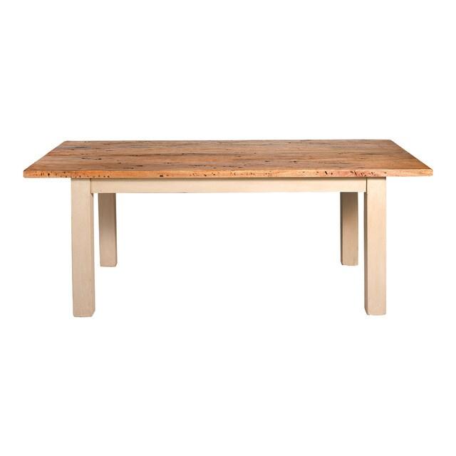 Mesa de sala de jantar de madeira Ins  Casa e Decorao